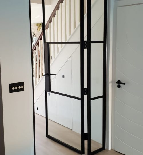 Fire Original Steel door and fixed panel Design Plus 01