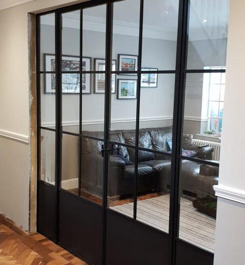 Internal Slim Steel door project gallery 01