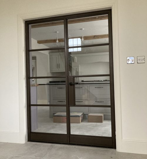 Internal Steel Double Doors in Bronze Design Plus 04