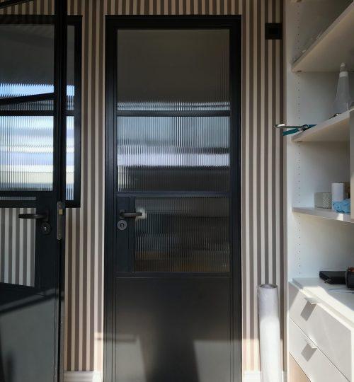 Original Steel Door Reeded glass Design Plus SU MEI W8