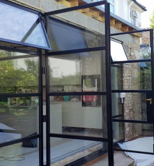 Original Steel 2 Doors Thermal Break W50 and Windows Design Plus 011